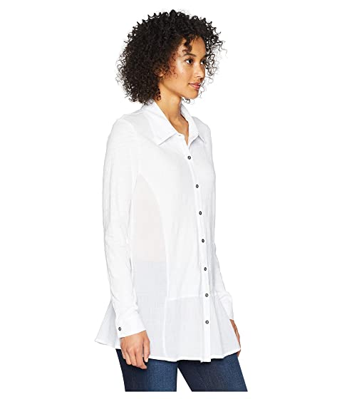 Cheap Sale Amazing Price Outlet Fashion Style Mod-o-doc Slub Jersey Button Front Drop Waisted Tunic White zUDoQAv8