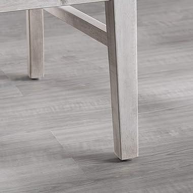 Great Deal Furniture Truda Farmhouse Light Grey Finish Acacia Wood Dining Chairs