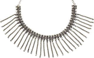 Sansar India Oxidized Tribal Kolhapuri Traditional Necklace for Girls and Women