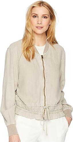 Soft Feminine Bomber Jacket
