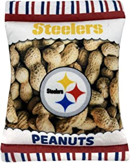 NFL Pittsburgh Steelers Crinkle FINE Plush Dog & CAT Squeak Toy - Cutest Stadium Peanuts Snack Plush Toy for Dogs & Cats w...