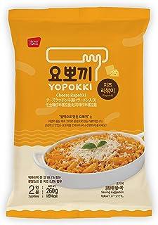 Instant Topokki Rapokki Rice Cake with Ramen Noodles Popular Korean Food Various Flavors ??? ??? (Cheese_Rapokki, 260g 1 Pouch (2 Servings))