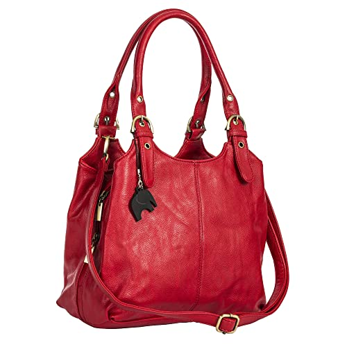 16c8c035d4c42 Red Leather Bags: Amazon.co.uk