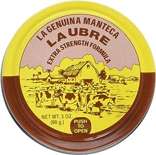 La Genuina Manteca Ubre Tin/Lata 3 Oz. (90g.) Extra Strength Formula