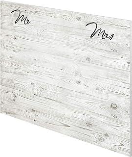 Marca Amazon -Movian Kolva Modern - Cabecero Mr & Mrs 22 x 160 x 110 cm (estampado)