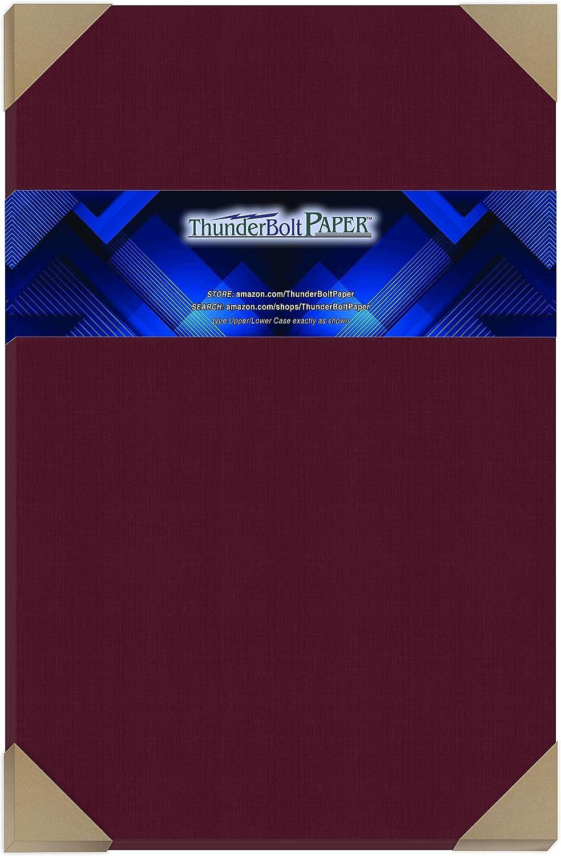 15 Dark Burgundy Linen Save money 80# Cover Paper 12