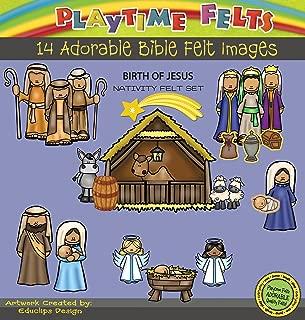 Birth of Jesus Nativity Felt Figures for Felt Playboards