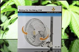Luglez Ventilador De Pinza Cultivo 21 cm/20W (Giratorio con 2 Velocidades) con un Fuerte Clip para Armario de Cultivo