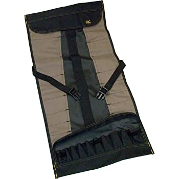 Clc Custom Leathercraft 1173 Socket Tool Roll Pouch, 32 Pocket