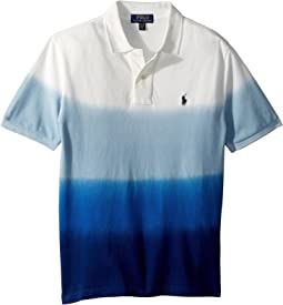 Dip-Dyed Cotton Mesh Polo (Big Kids)