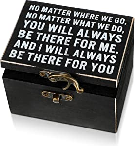 Best Friend Present Classic Hinged Decorative Boxes for Home Decor Small Wooden Box with Lock Vintage Wood Craft Box Decorative Locking Storage Box Wooden Keepsake Box for Friends Home Decorations