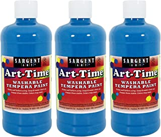 Sargent Art Turquoise Art-Time Washable Tempera Paint, 3 Count