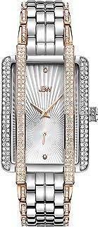 JBW Luxury Women's Mink 12 Diamonds & 280 Swarovski Crystals Metal Watch