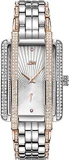 JBW Luxury Women's Mink J6358 0.12 ctw 12 Diamond Gold Plated Wrist Watch with Stainless Steel Bracelet, 28mm