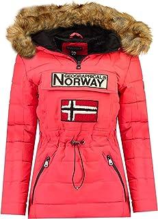 Geographical Norway Belinda Lady – Parka cálida para mujer – Abrigo impermeable con capucha de piel – Abrigo cortavientos ...
