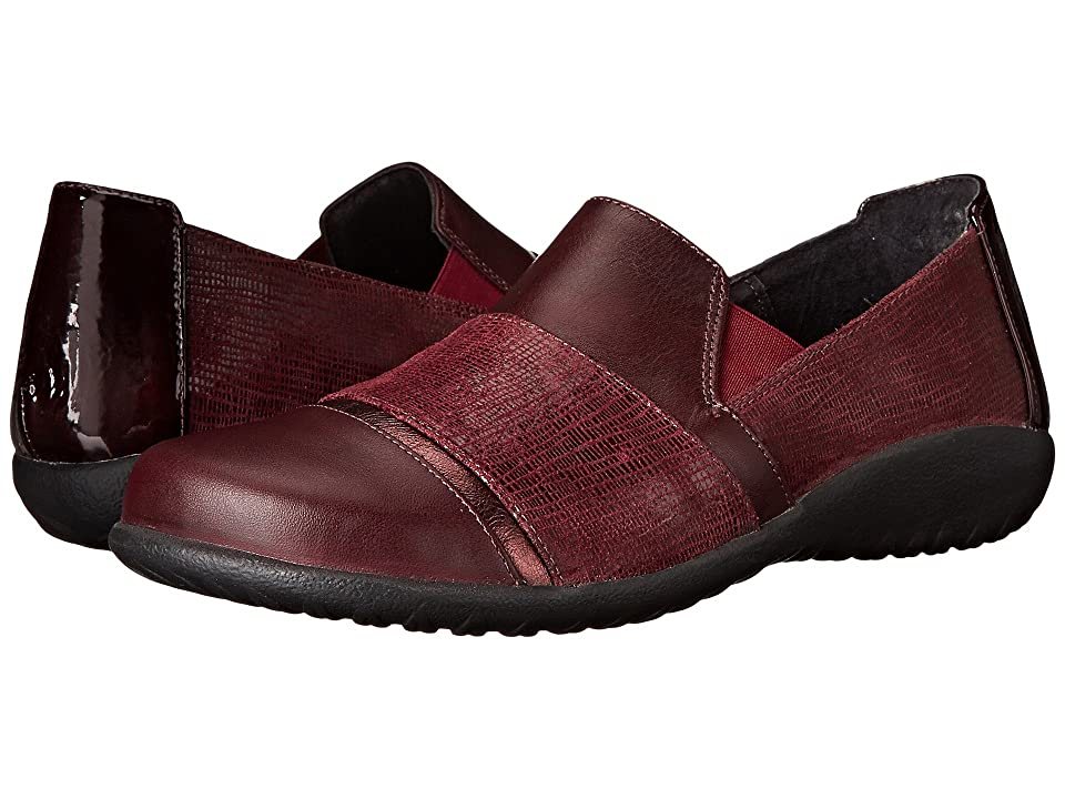 Naot Miro (Reptile Burgundy/Sicily Bronze/Shiraz Leather/Wine Patent/Shiraz) Women