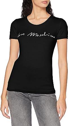 Love Moschino Short Sleeve T-Shirt_Italic Font Logo Camiseta para Mujer