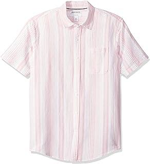Amazon Essentials Men's Slim-fit Short-Sleeve Linen Shirt