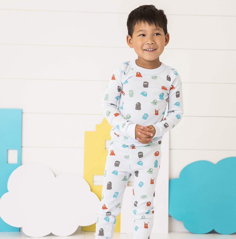 GOTS Certified Skylar Luna Boys Long Sleeve Pajama Set 100/% Soft Organic Turkish Cotton