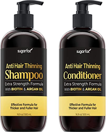 wholesale Sugarfox Shampoo and Conditioner lowest Set | Improves Appearance in Hair Growth Shampoo | Hair online Shampoo with Biotin Shampoo and Argan Oil | Improve Appearance of Hair Thickening Products for Women and Men sale