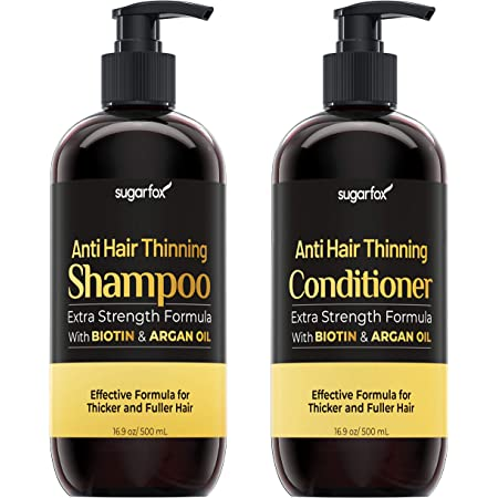 Sugarfox Biotin Shampoo and Conditioner Set - Improves Appearance of Hair Growth Shampoo and Conditioner, Improves Appearance of Hair Thickening Products for Women & Men (2 x 500 ML)