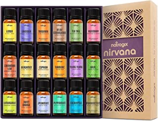 Natrogix Nirvana Essential Oils - Top 18 Essential Oil Set 100% Pure Therapeutic Grade 18/10ml Incl.Oils are Carefully Sourced All Over The World,Made in USA w/Free E-Book