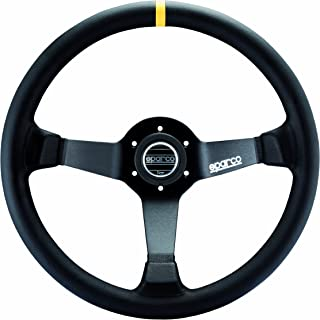 Sparco 015R345MLN Leather Steering Wheel,Black