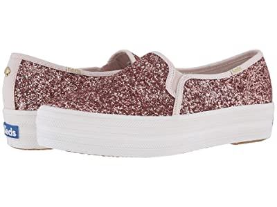 Keds x kate spade new york Triple Decker KS Glitter (Rose Gold) Women
