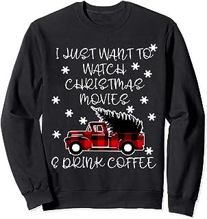Cute Gift for Coffee Lover Girls Women Mom Christmas Movie Sweatshirt