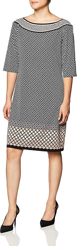 Amazon Brand - Some reservation Lark Ro Shift Sleeve Women's Half Popular standard Dress
