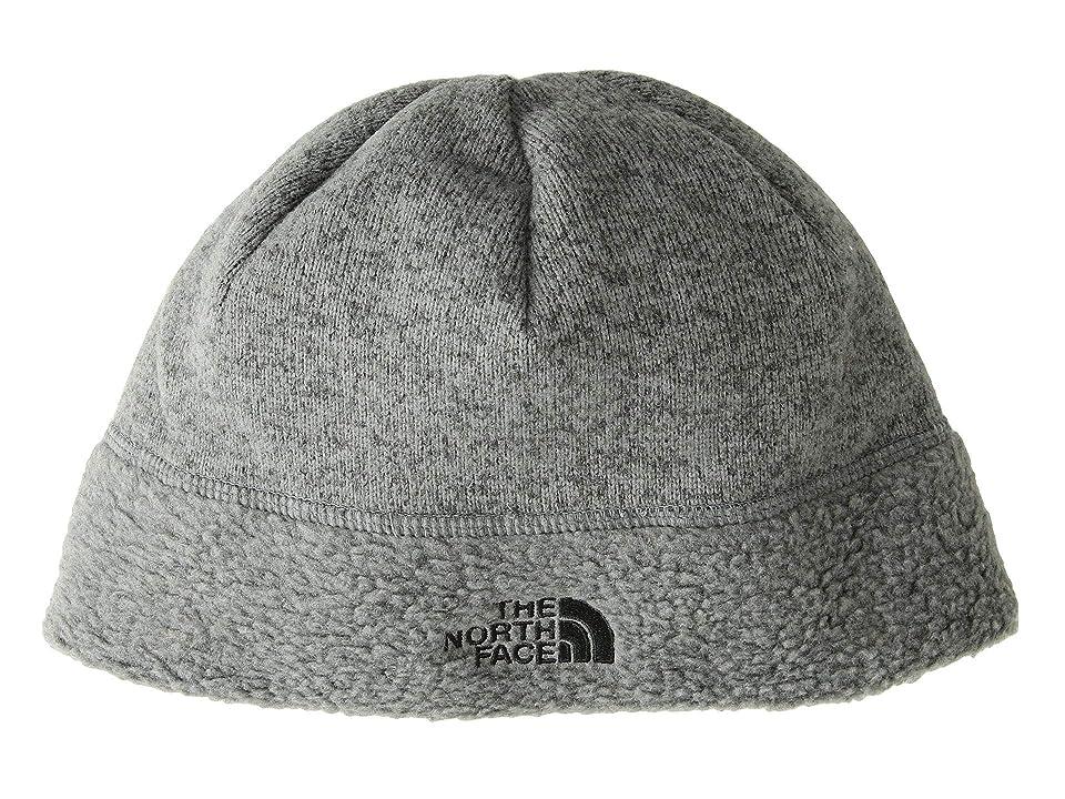 The North Face Sweater Fleece Beanie (TNF Medium Grey Heather/TNF Black) Beanies