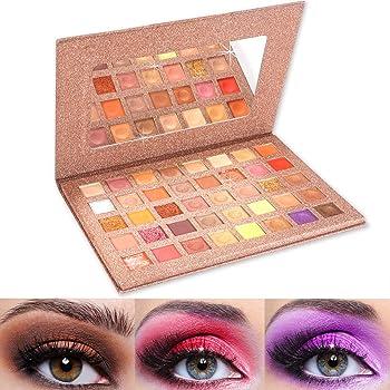 ONLYOIYL Paleta De Sombras De Ojos Profesionales - Paleta Maquillaje - Altamente Pigmentados 40 Colores Brillantes y Mate: Amazon.es: Belleza