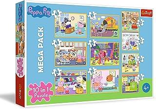 Trefl 90358 Pig met vrienden, 20 tot 48 delen, 10 sets, voor kinderen vanaf 4 jaar Puzzel Peppa Pig, Multicolor
