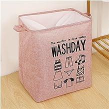 JUNQIAOMY Kosz do przechowywania, składany, brudny kosz na pranie organizer na brudne ubrania (kolor : różowy)