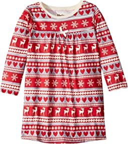 Fair Isle Deer Nightdress (Toddler/Little Kids/Big Kids)