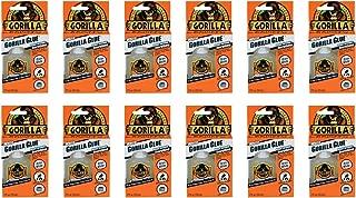 Gorilla White Glue, Waterproof, 2 ounce Bottle, White, (Pack of 12)