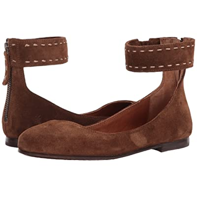 Frye Carson Ankle Ballet (Wood Soft Oiled Suede) Women