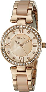 Women's Selma Quartz Metal and Acetate Dress Watch, Color: Rose Gold, Blush (Model: ZR34335)