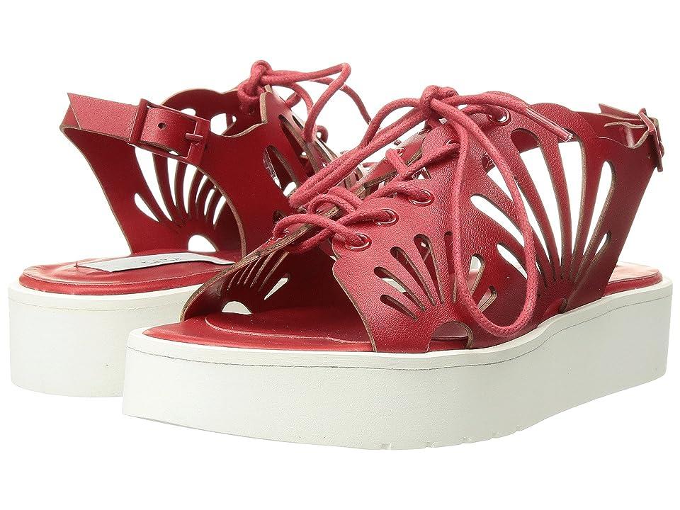 Stella McCartney Kids Flores Platform Sandals w/ Floral Cut-Outs (Toddler/Little Kid/Big Kid) (Red) Girl