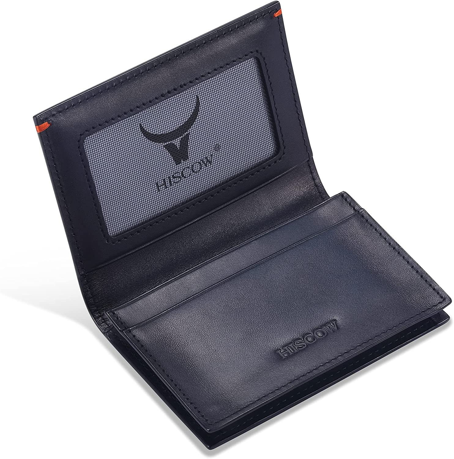 Leather Business Card Case Holder Italian Calfs for Free shipping anywhere in the nation Women Colorado Springs Mall Men