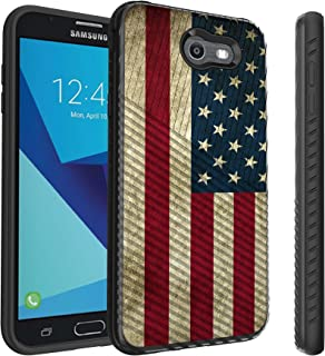 Untouchble Compatible with Samsung Galaxy J7 Perx, J7 Sky Pro, J7 V, J7 (2017) [Stripe Force] Striped Slim TPU Cover Bump ...