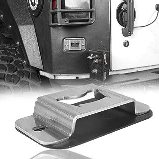 Hooke Road Bottle Opener Rear License Plate Tailgate Accessory for 2007-2018 Jeep JK Wrangler & Unlimited Sport Sahara Rubicon