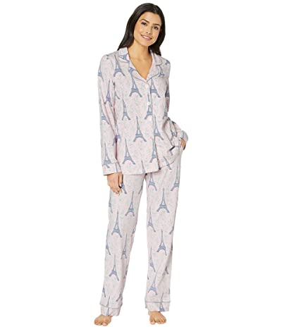 BedHead Pajamas Long Sleeve Classic Notch Collar Pajama Set (Colette