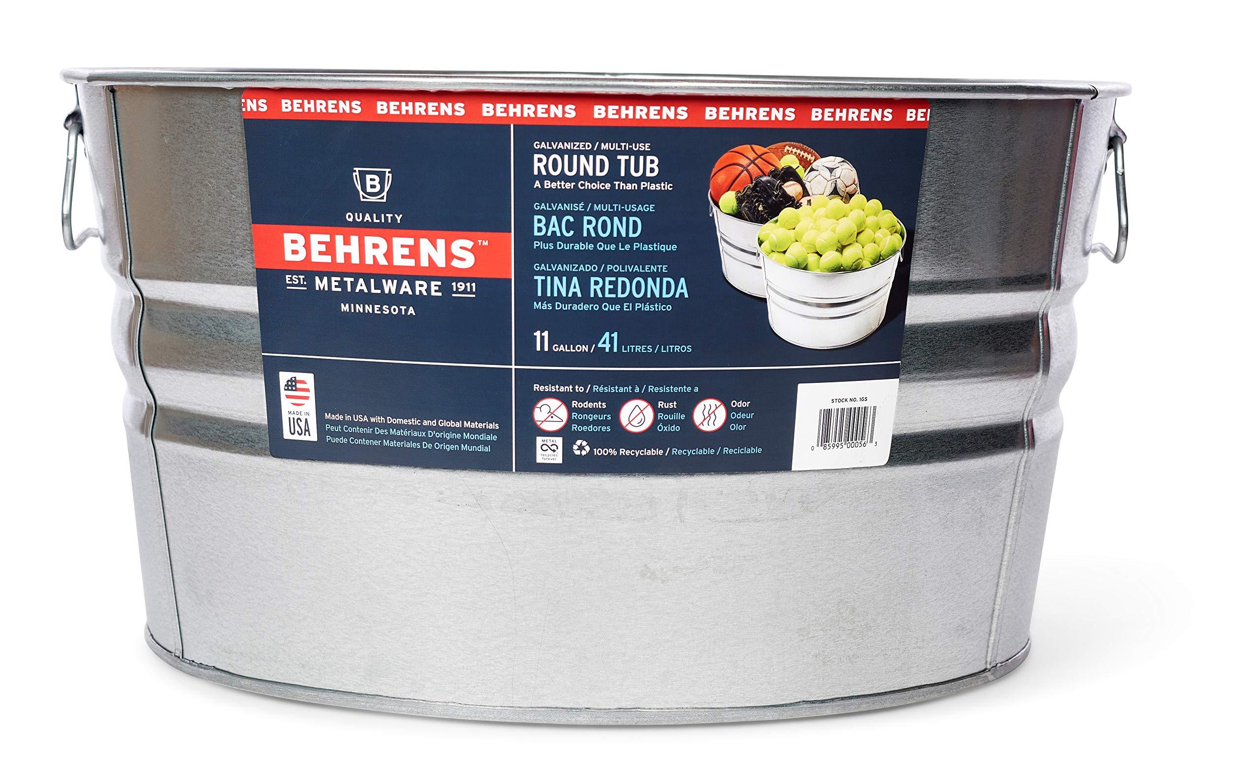 Behrens 1GS Gallon Round Galvanized