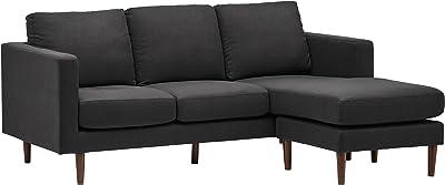 Amazon Com Signature Design By Ashley Jarreau Contemporary Upholstered Sofa Chaise Sleeper Gray Furniture Decor