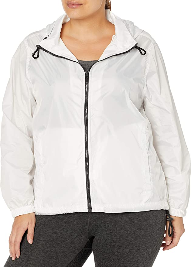 Big Chill Womens Lightweight Windbreaker Spring Jacket with Patterned Hood
