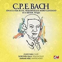 C.P.E. Bach: Sonata for Flute, Violoncello & Basso Continuo in E Minor, Wq.124 (Digitally Remastered)