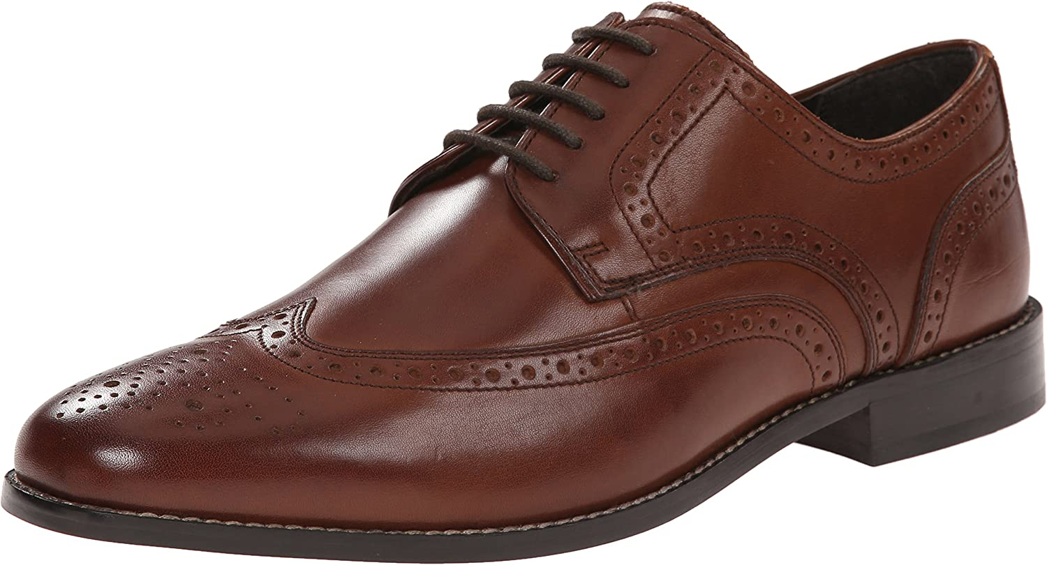 Nunn Bush Mens Nelson Nelson Wingtip Oxford Dress Casual Lace-up