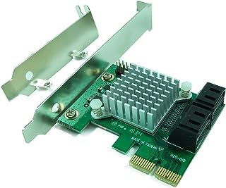 Ableconn Ableconn PEX-SAT4R 4-Port SATA 6G PCI Express 2.0 Host Adapter - PCIe AHCI SATA III 6Gbps RAID Controller Card Su...