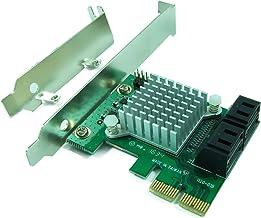 Ableconn PEX-SAT4R 4-Port SATA 6G PCI Express 2.0 Host Adapter – PCIe AHCI SATA III..